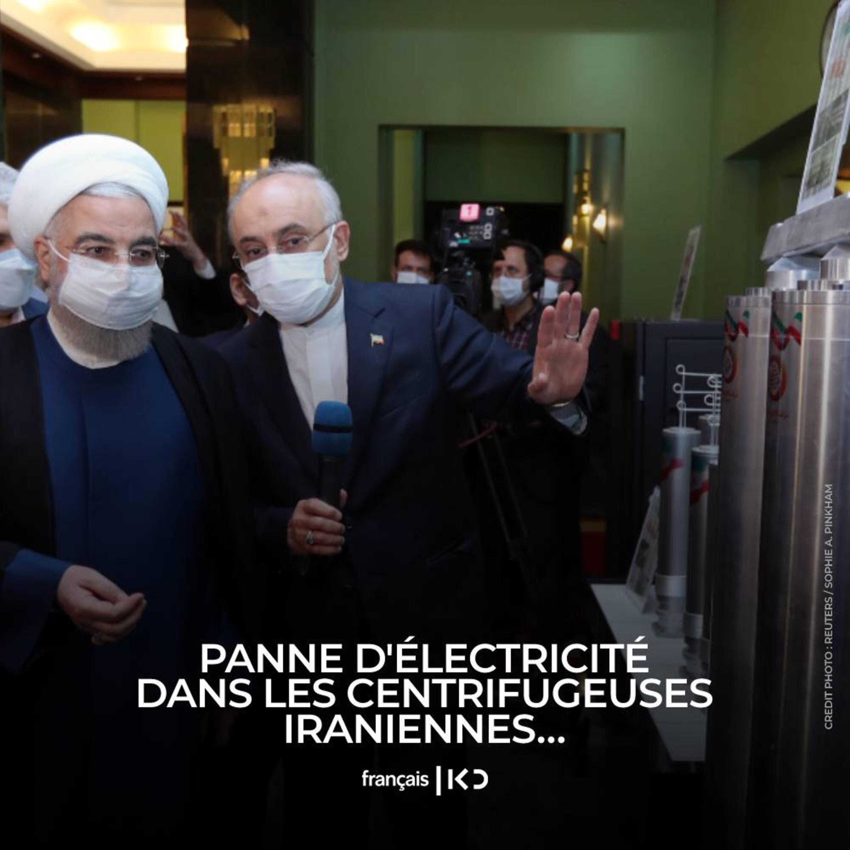 Panne d'électricité dans les centrifugeuses iraniennes…