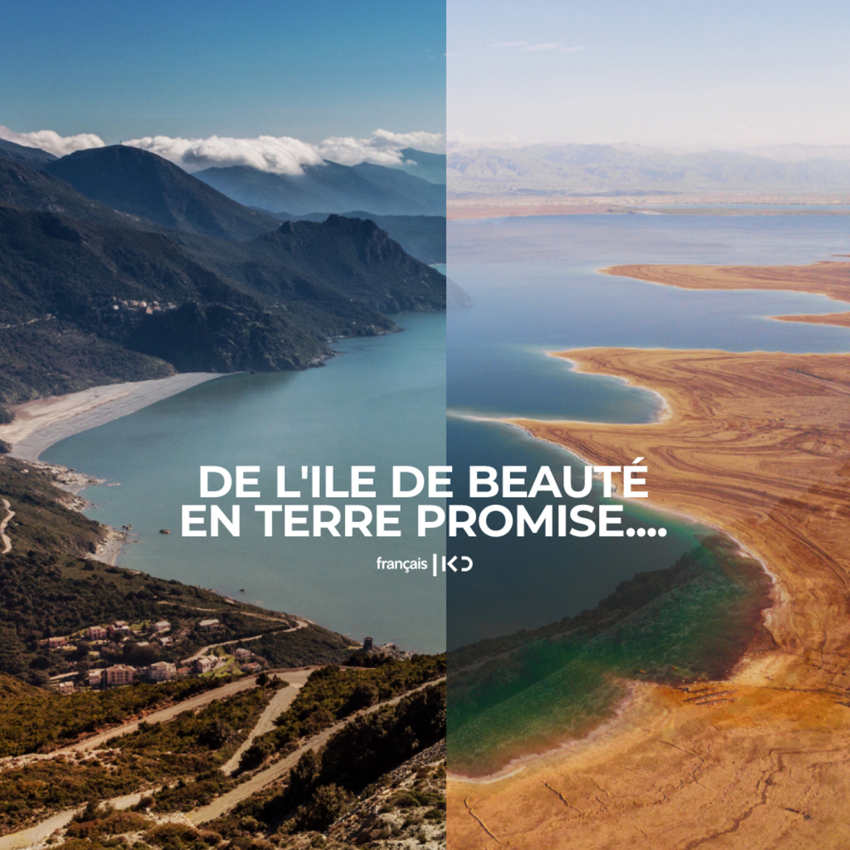 De l'ile de beauté en Terre promise....