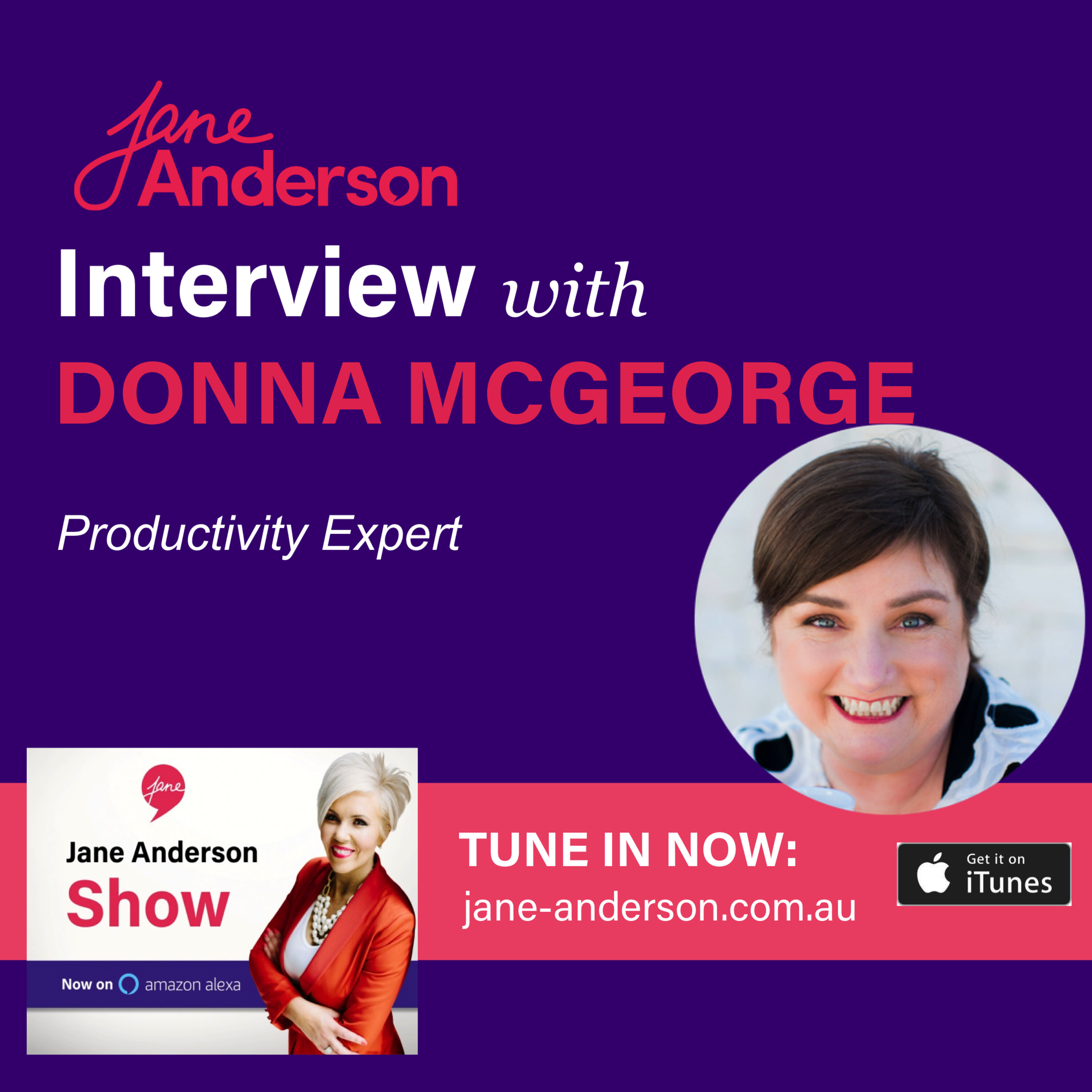 Episode 34 - Interview with Productivity Expert Donna McGeorge