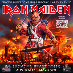"""""""It's the biggest production we've ever toured with""""- Iron Maiden on the Legacy Of The Beast tour"""