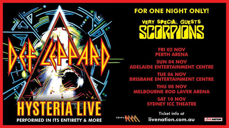 Joe Elliot is bringing his band Def Leppard back to Australia, listen to him talk about the tour and Hyesteria