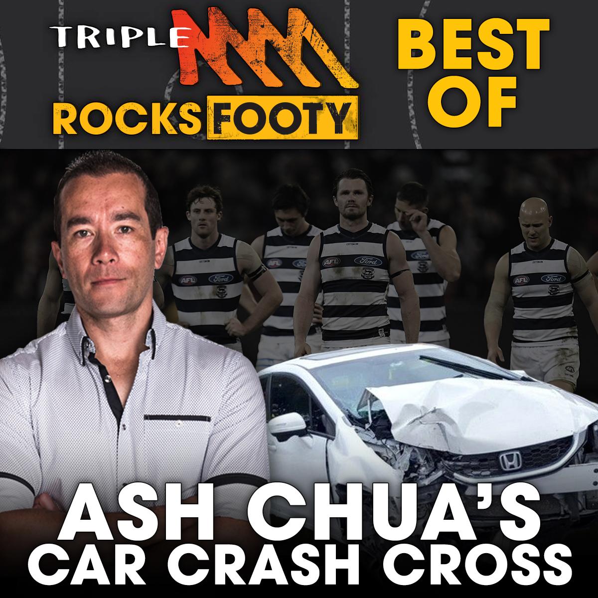 Ash Chua's Car Crash Cross From The Geelong Rooms