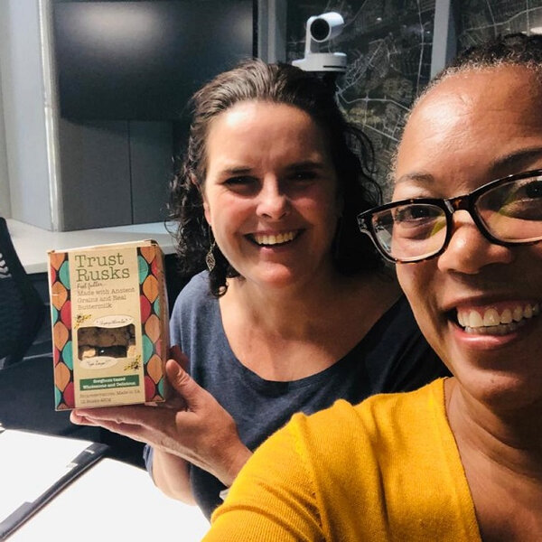On the couch: Travel and Lifestyle podcaster Yolanda Busbee Methvin
