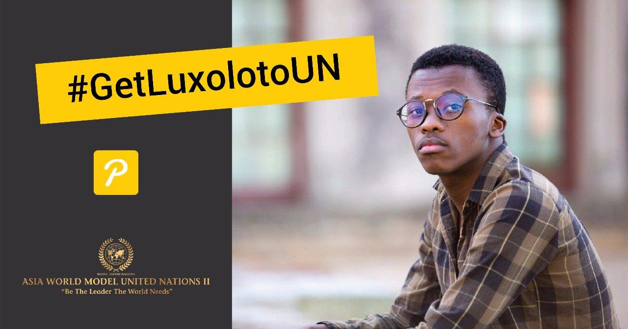#GetLuxoloToUN crowd-funding campaign