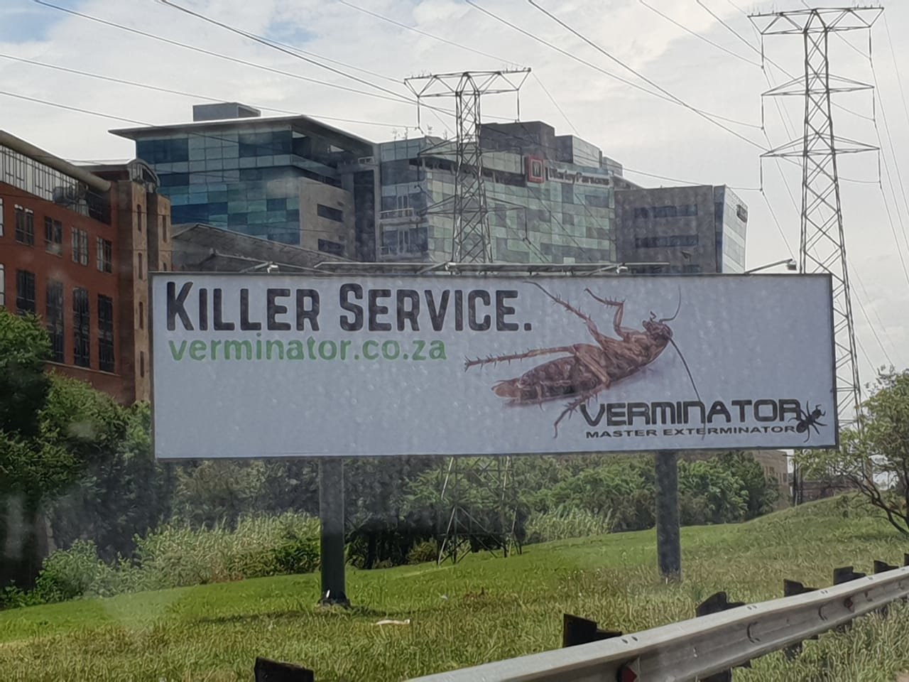 Most outdoor advertising sucks. This is how it should be done. Verminator!