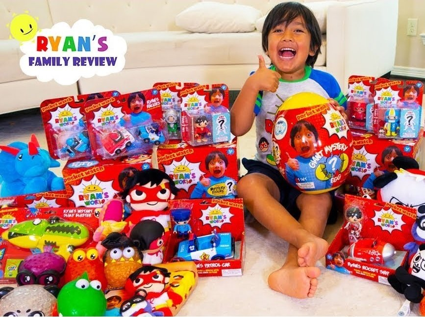 Ryan is seven and reviews toys. For that he earned over R100 million last year