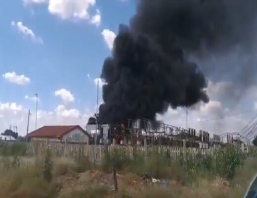 Eskom technicians on site after Allandale substation catches fire