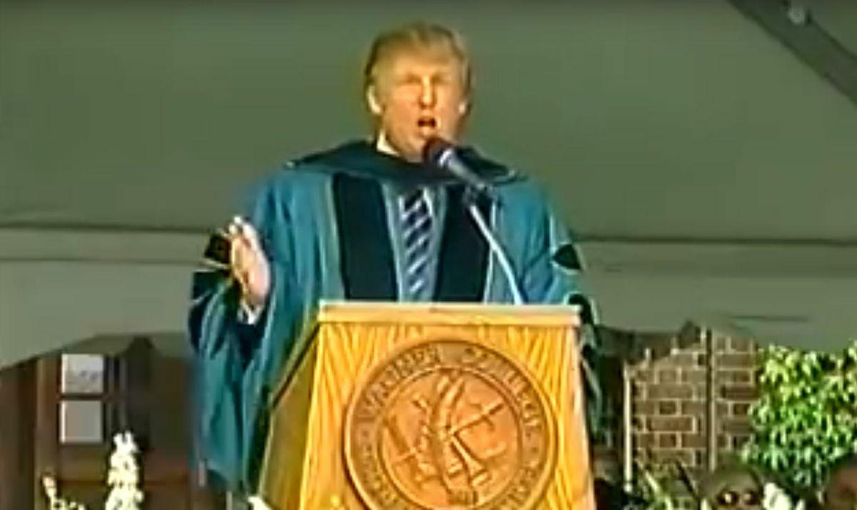 What'sViral - Trumps speech to university graduates comes back to bite him