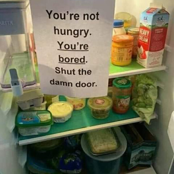 What's Viral -You are not hungry, you are bored shut the fridge door #Lockdown