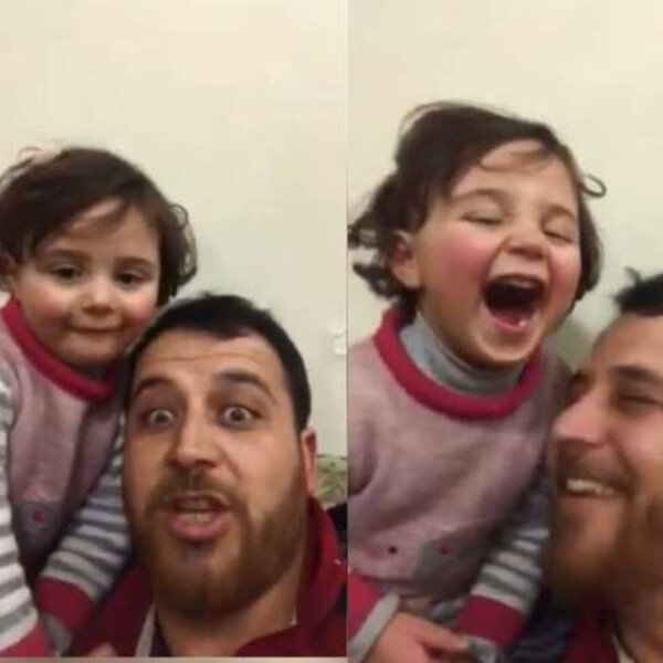 What's Viral - Syrian father teaches daughter to cope with sound of bombs falling