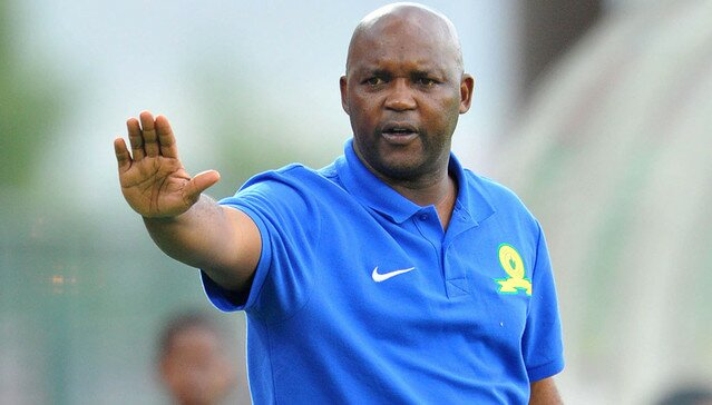 What'sgone viral - Pitso losing it in a post-match interview