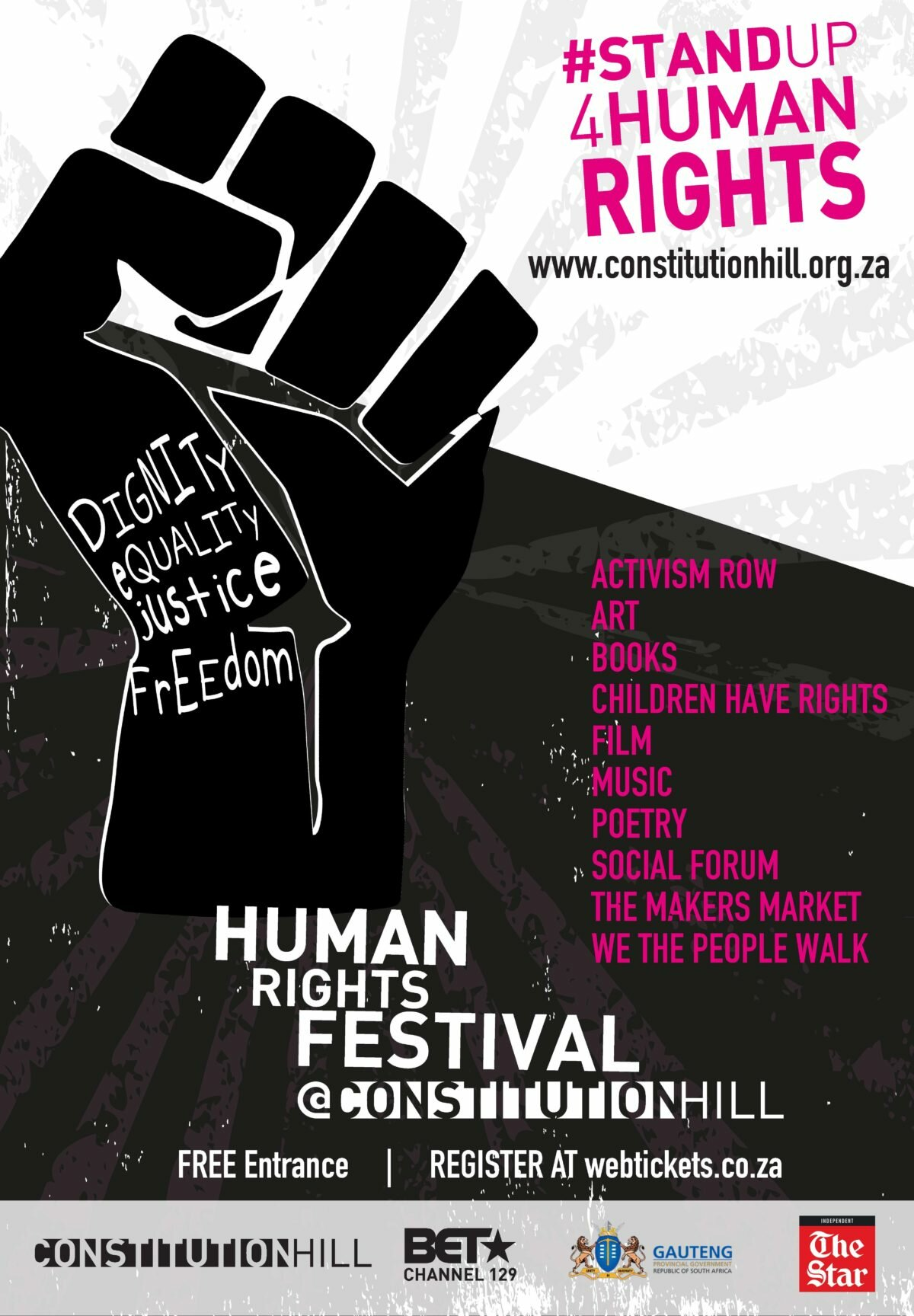 #StandUp4HumanRights - Constitution Hill Human Rights festival