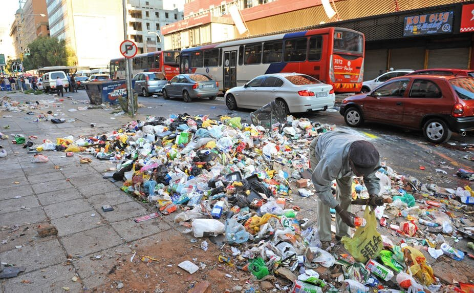 Is recycling happening in Johannesburg?