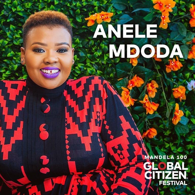 Anele announces that she's one of the Global Citizen 100 hosts!