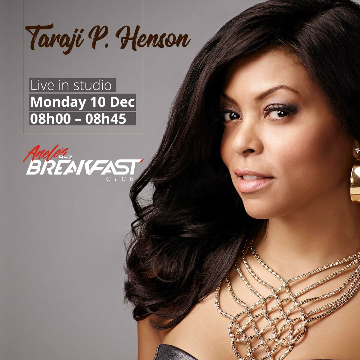 Empire's Cookie (Taraji P. Henson) caught up with Anele and the 947 Breakfast Club!