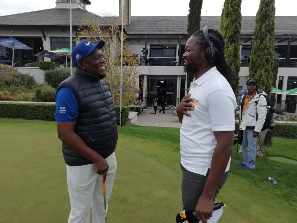 Home Affairs Minister Siyabonga Cwele is improving his golf swing