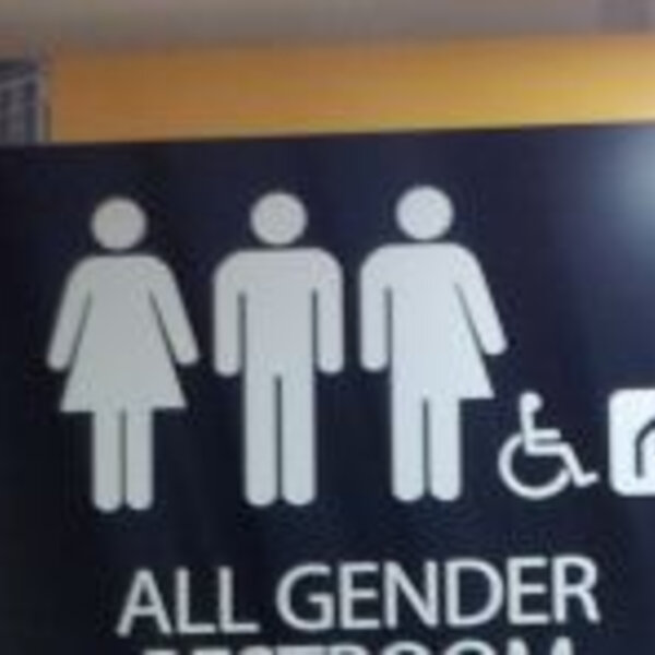 Why is there opposition to gender neutral public bathrooms at CT international Airport