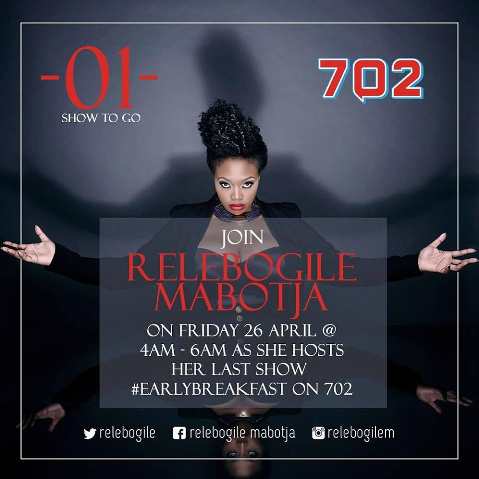 Early breakfast show bid farewell Relebogile Mabotja - Part 2