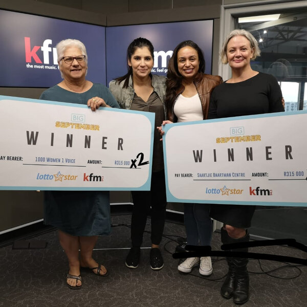Kfm and LottoStar raised R625,500 for #WEARENOTNEXT