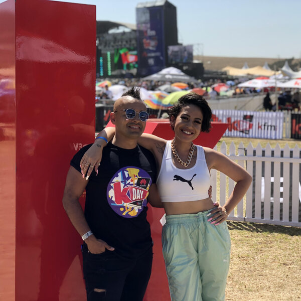 Rowlene on the Kfm Top40 - LIVE  from Huawei KDay