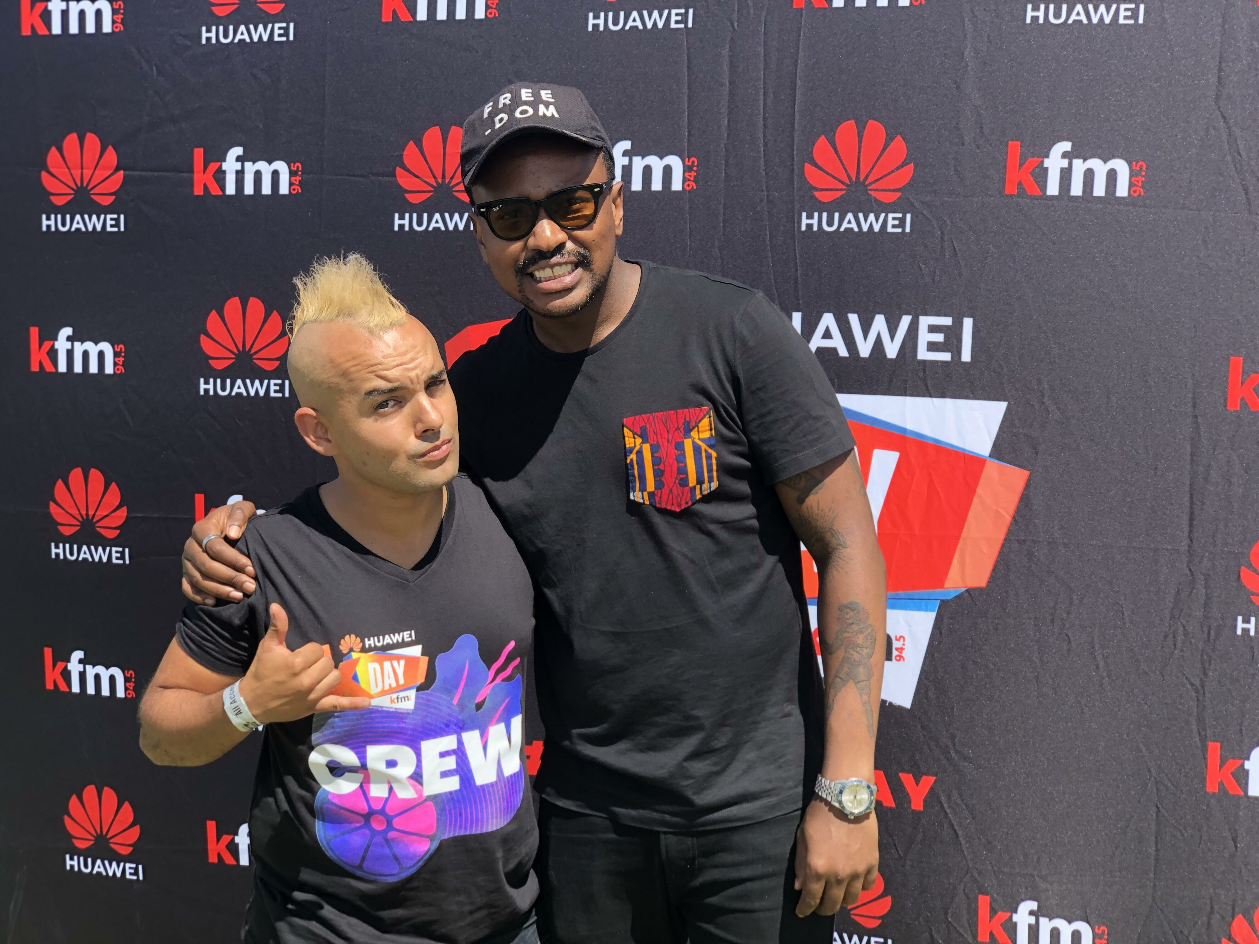 Majozi joins Carl on the #CokeTop40CT following Huawei KDay performance