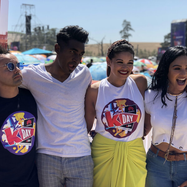 Emo Adams and Tarryn Lamb on the Kfm Top40 - LIVE  from Huawei KDay