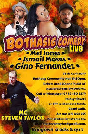 Comedy evening in aid of Klinefelters Syndrome SA