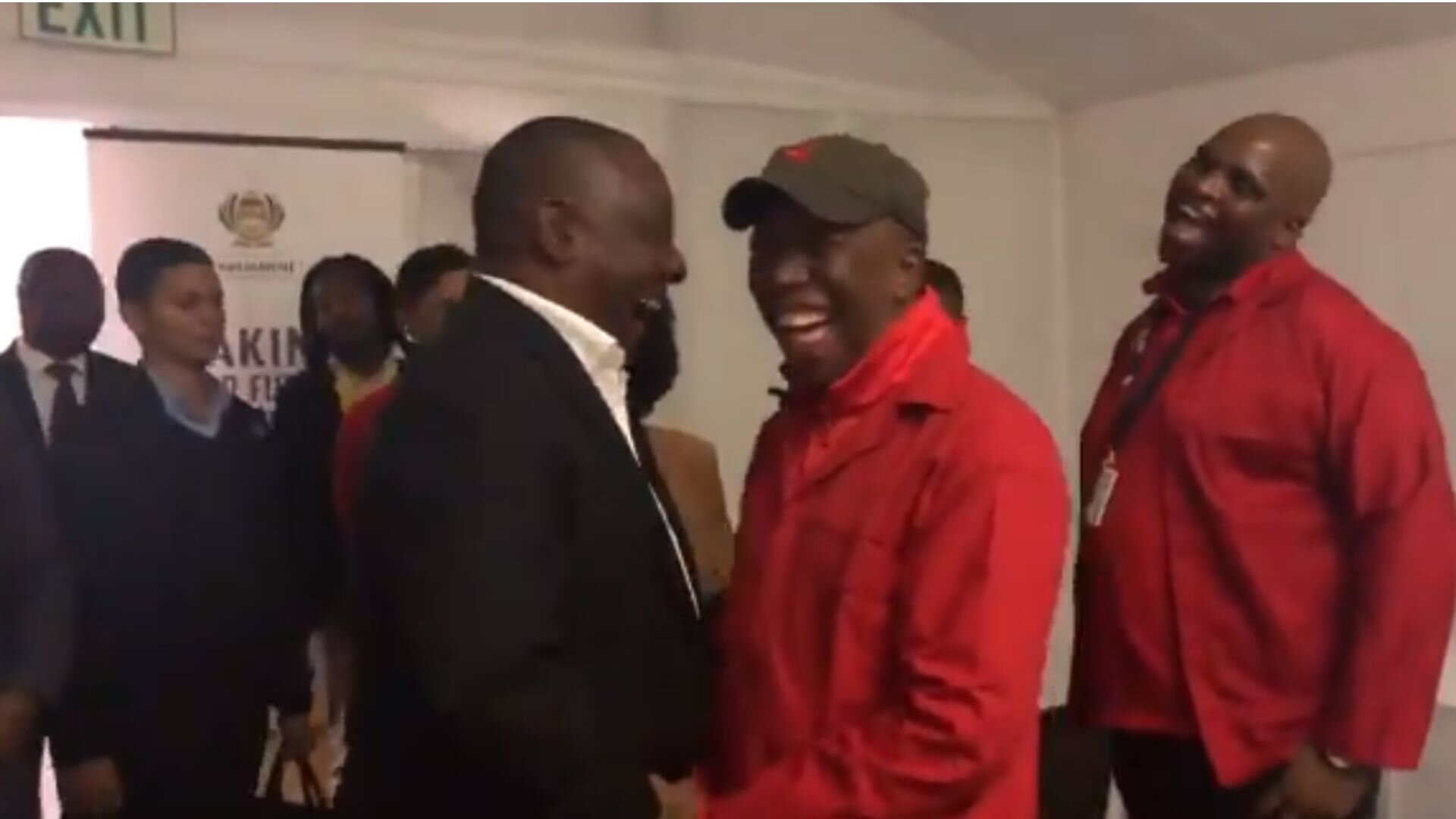Barbs Wire - Jealous down! Ramaphosa congratulates EFF's election performance