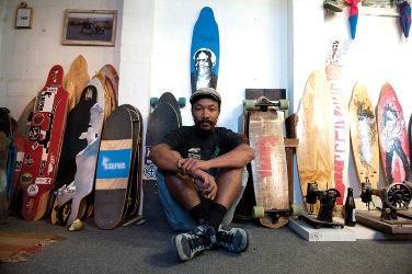 Cape Town longboard skater and shaper Kent Lingeveldt