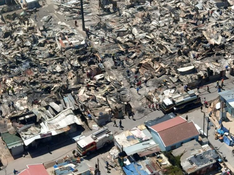 Rebuilding starts in Khayelitsha after fire destroyed over 300 shacks