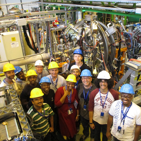UWC Physics student flying SA flag high at CERN