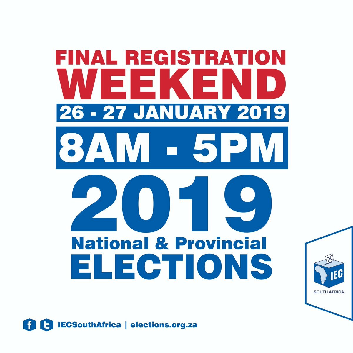Last chance to get registered as a voter this weekend