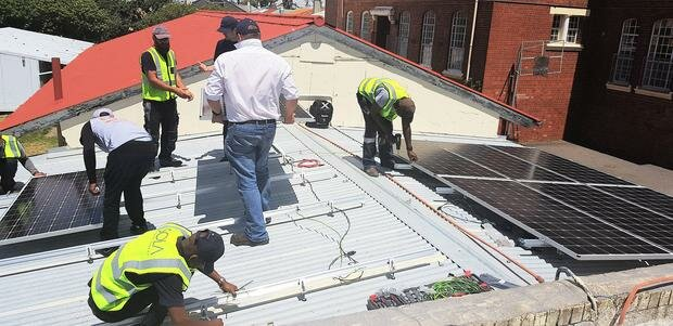 Solar power gift to help Salt River secondary school to cut electricity bill