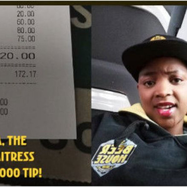 Waitress gets massive tip for amazing service