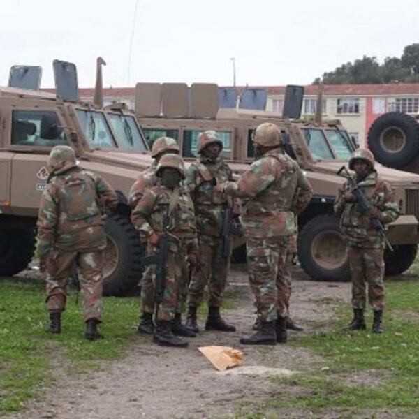 SANDF leaving Cape Flats