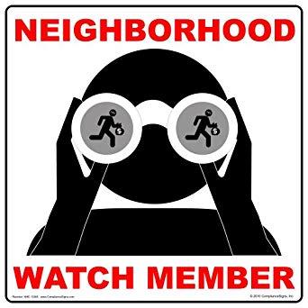 On patrol with the Lansdowne Neighbourhood watch.
