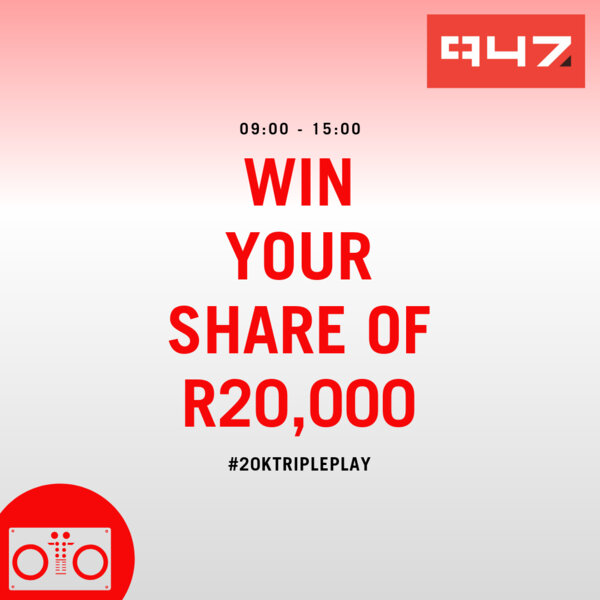 #20kTriplePlay: Matthew tuned in just in time to hear the songs and won R4000!