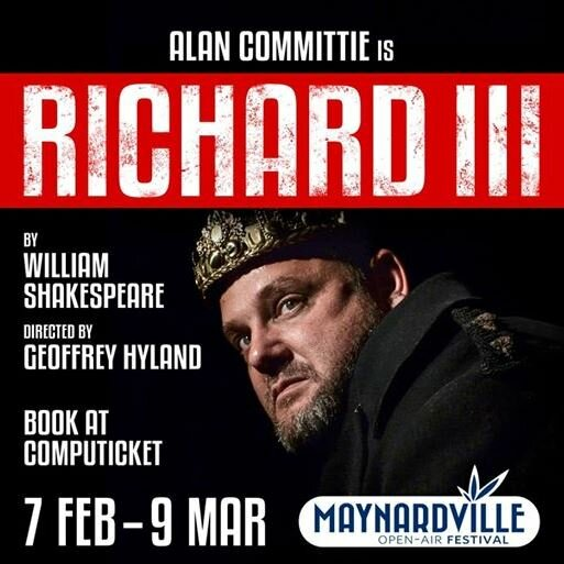 Alan Committie chats about his role as Richard III at Maynardville Open-Air Theatre