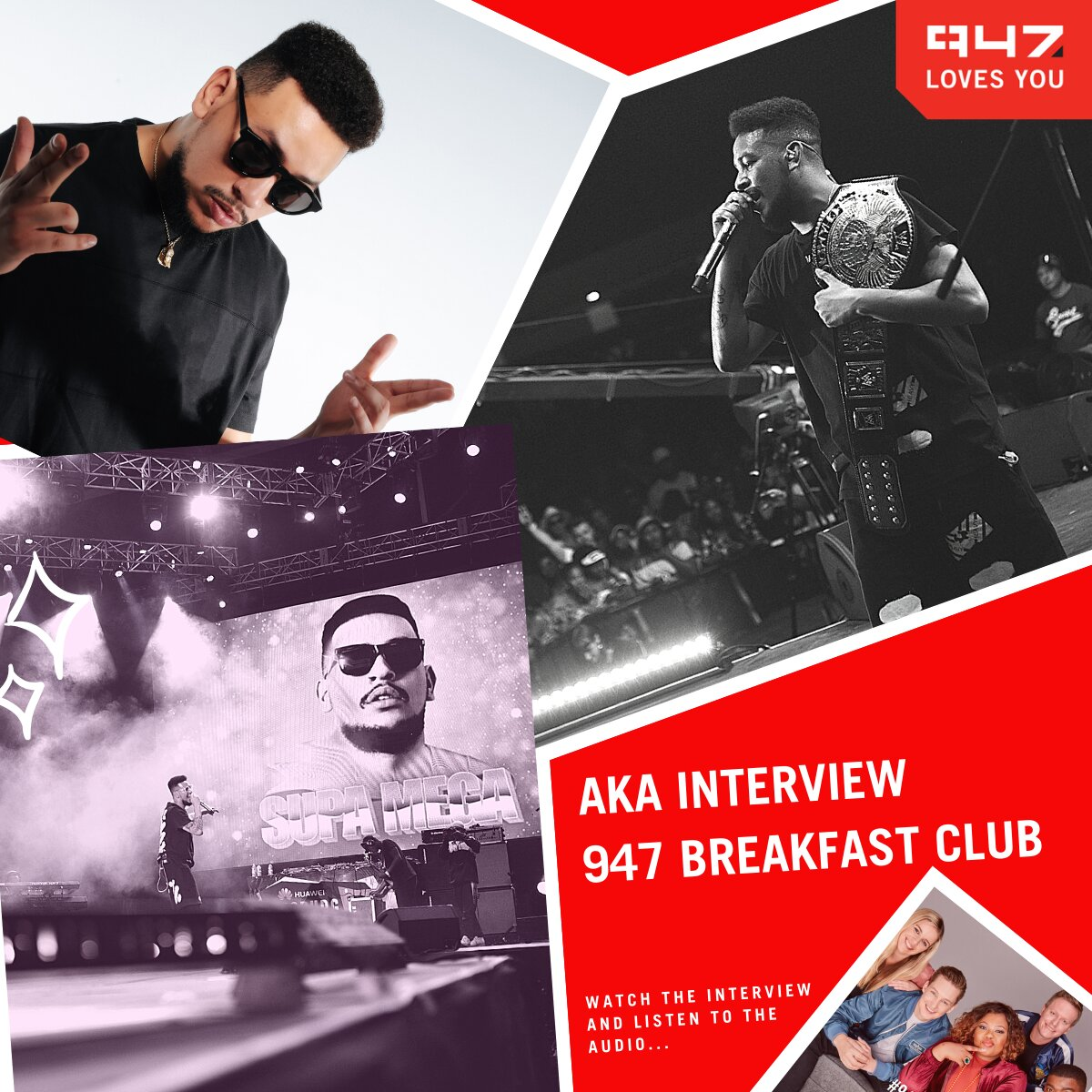 AKA talks music, changing his artist name and AKA Orchestra on the 947 Breakfast Club
