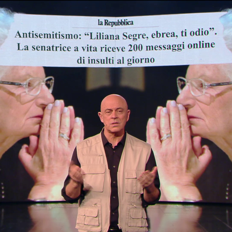 """Maurizio Crozza: """"Gli insulti alla Segre fanno diventare la Boldrini la più amata dagli italiani..."""""""