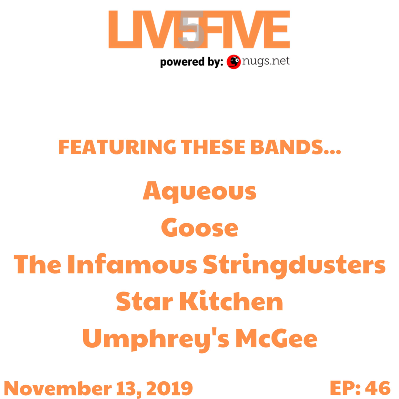 Live 5 - November 13, 2019.