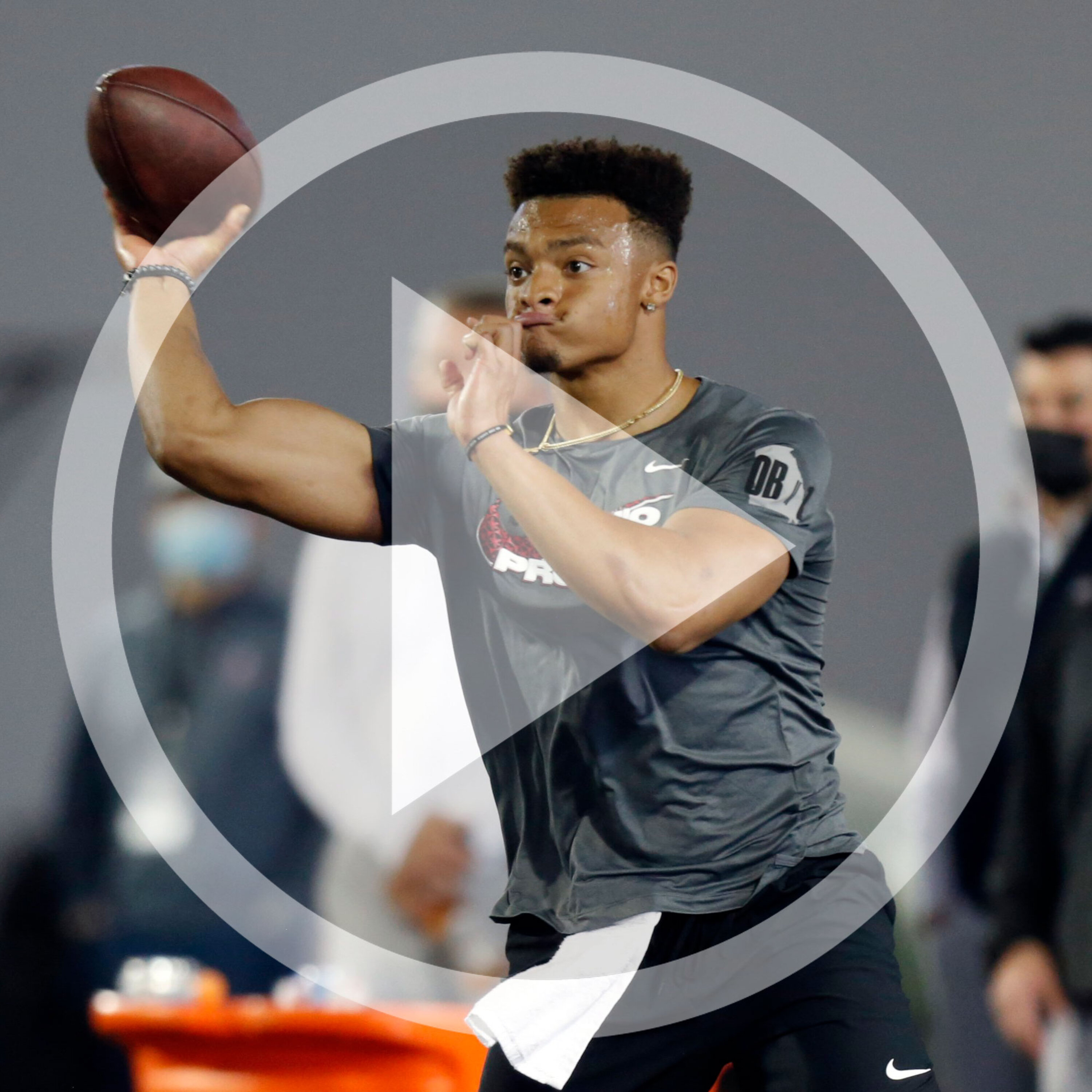 Justin Fields, Ryan Day and other Buckeye football players discuss pro day