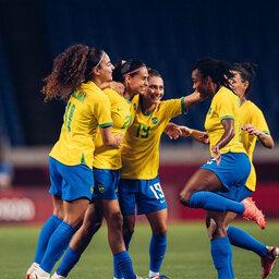 Seleção feminina de futebol vence a Zâmbia e vai enfrentar o Canadá nas quartas de final