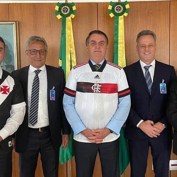Presidentes de Flamengo e Vasco se encontram com Jair Bolsonaro para pedir um protocolo de segurança para a retomada do futebol