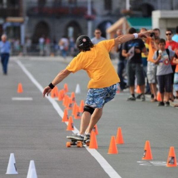 Modalidades do Skate Slalom