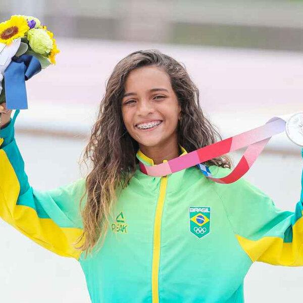 Rayssa Leal ganha a prata no street feminino (Foto: Wander Roberto/COB)