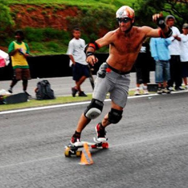 Brasileiro é o mais rápido do mundo no slalom