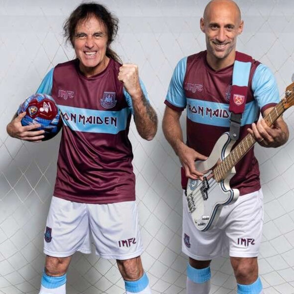 Iron Maiden firmou parceria com o West Ham United, e irão lançar uma edição especial do uniforme do clube.
