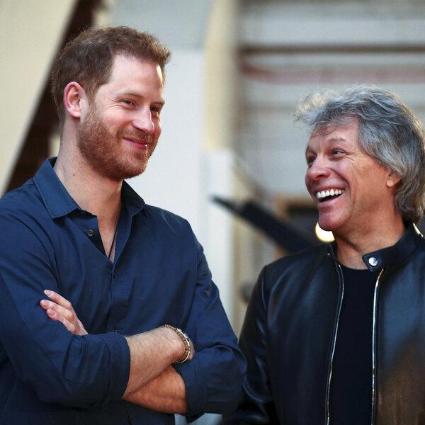 Jon Bon Jovi e Príncipe Harry gravam juntos em Abbey Road