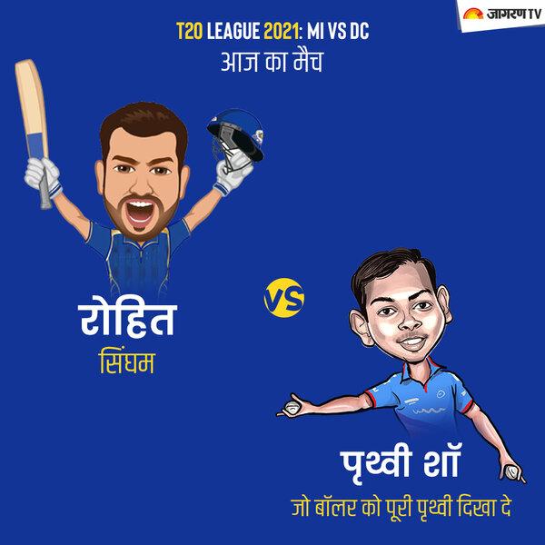 IPL 2021  MI vs DC: आज का मैच रोहित सिंघम vs पृथ्वी शॉ, जो बॉलर को पूरी पृथ्वी दिखा दे